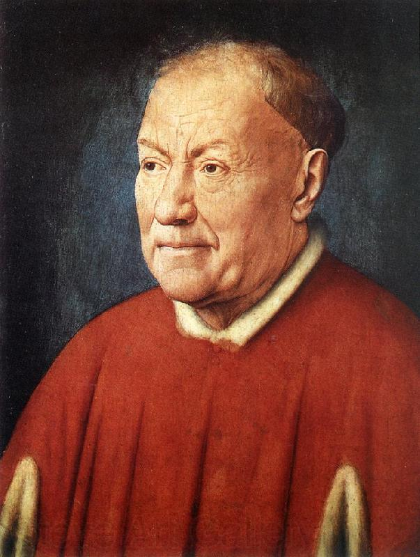 EYCK, Jan van Portrait of Cardinal Niccolo Albergati dfg