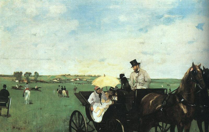 Edgar Degas At the Races in the Country