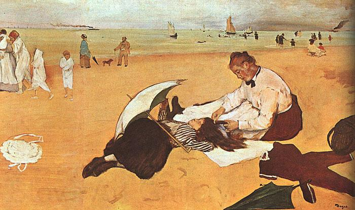 Edgar Degas At the Beach_z