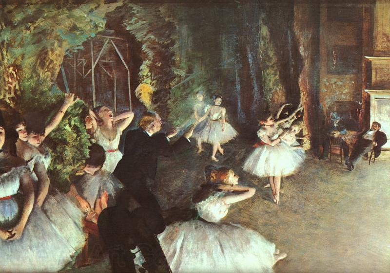 Edgar Degas Rehearsal on the Stage