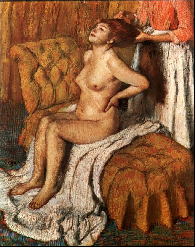 Edgar Degas A Woman Having her Hair Combed