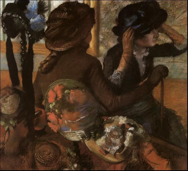 Edgar Degas At the Milliner's