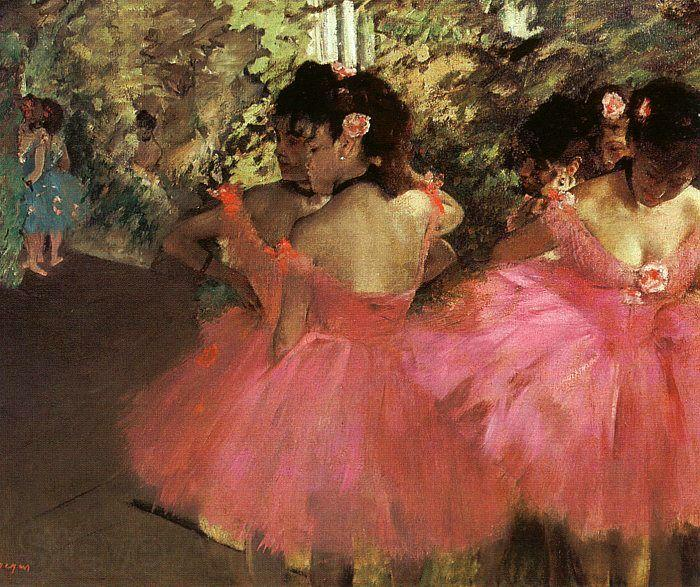 Edgar Degas Dancers in Pink_f
