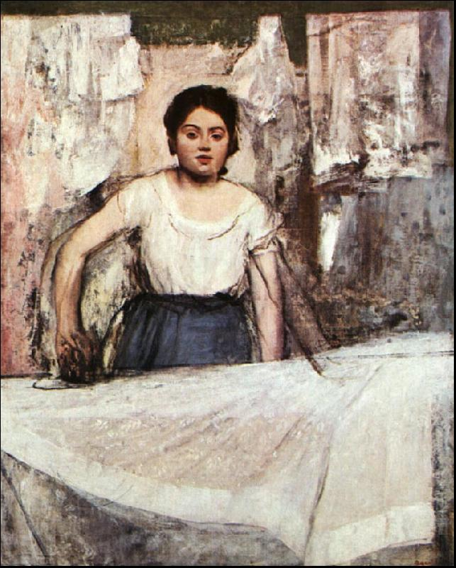 Edgar Degas A Woman Ironing