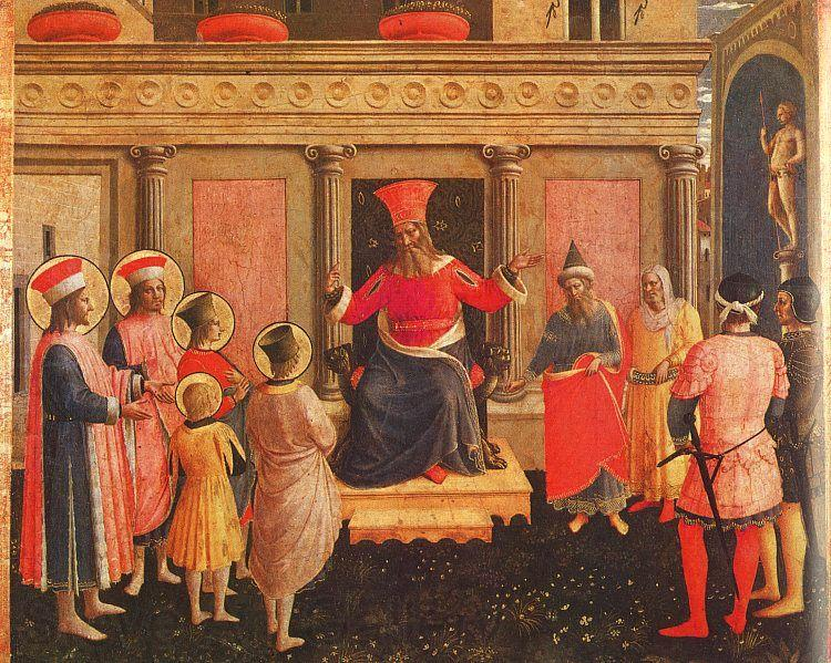 Fra Angelico Saints Cosmas and Damian with their Brothers before Lycias