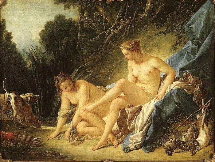 Francois Boucher Diana Leaving her Bath
