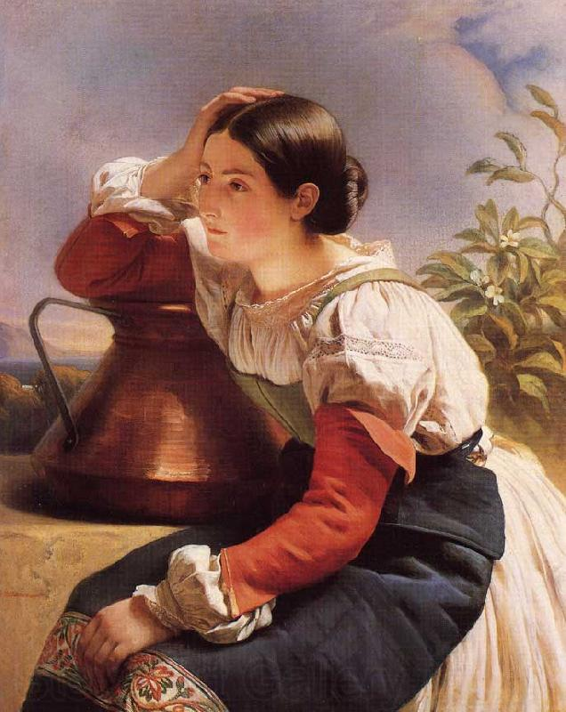 Franz Xaver Winterhalter Young Italian Girl by the Well