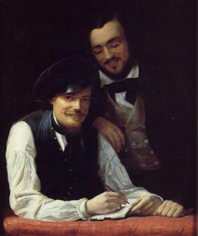 Franz Xaver Winterhalter Self Portrait of the Artist with his Brother, Hermann