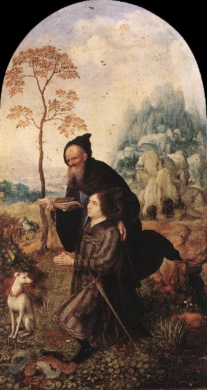 GOSSAERT, Jan (Mabuse) St Anthony with a Donor dfg