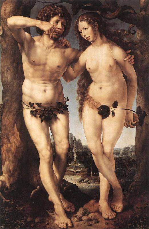 GOSSAERT, Jan (Mabuse) Adam and Eve sdgh