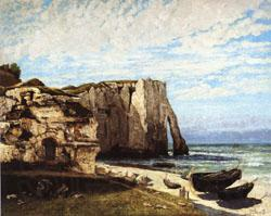 Gustave Courbet The Cliff at Etretat after the Storm