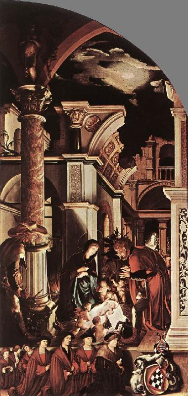 HOLBEIN, Hans the Younger The Oberried Altarpiece (right wing) sf