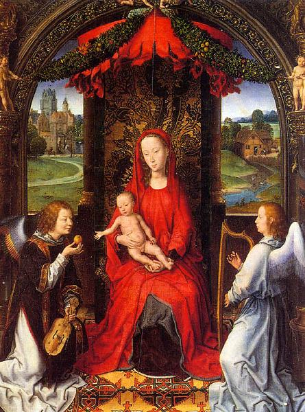 Hans Memling Madonna and Child with Angels