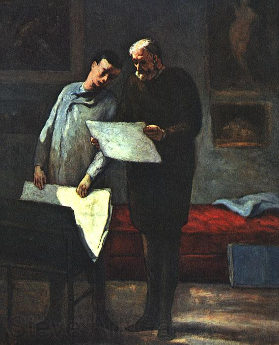 Honore  Daumier Advice to a Young Artist
