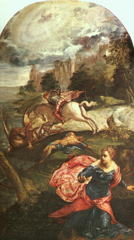 Jacopo Robusti Tintoretto St.George and the Dragon