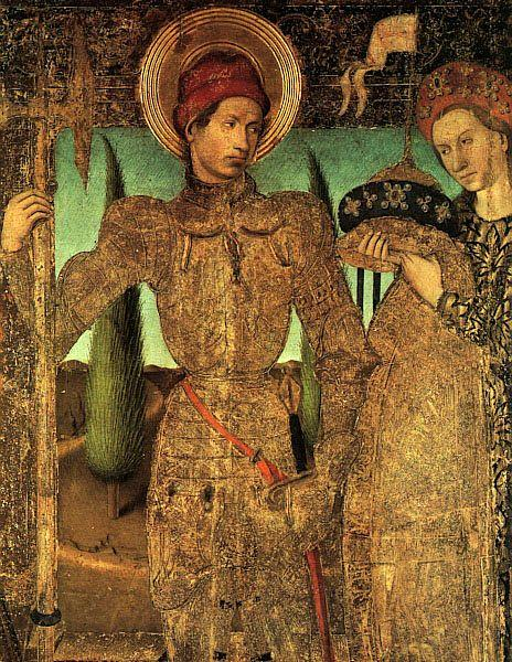 Jaime Huguet Triptych of Saint George (Detail of Saint George and the Princess)