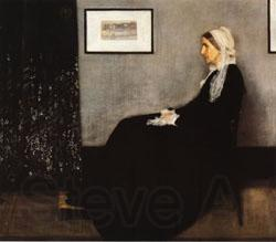 James Abbott McNeil Whistler Arrangement in Gray and Bloack No.1;Portrait of the Artist's Mother