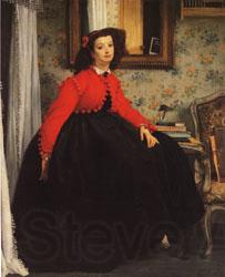 James Tissot Portrait of Mlle.L.L(or Young Girl in Red Jacket)