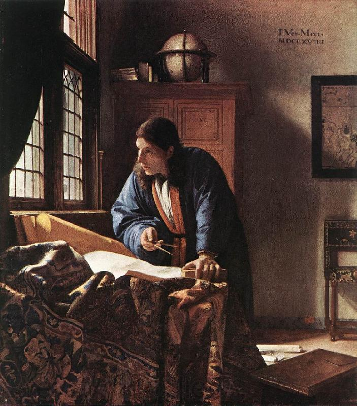 Jan Vermeer The Geographer