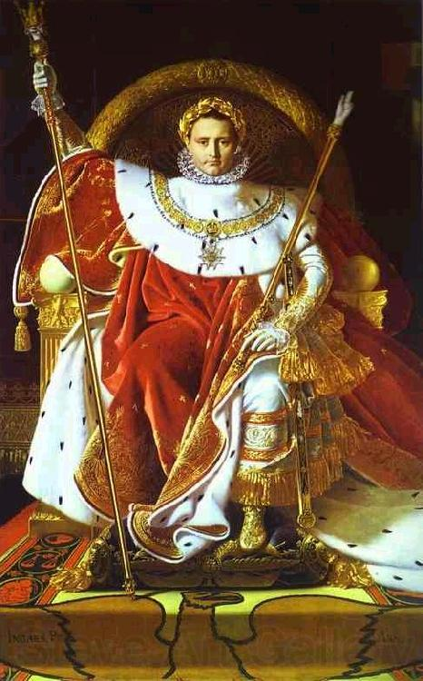 Jean Auguste Dominique Ingres Portrait of Napoleon on the Imperial Throne