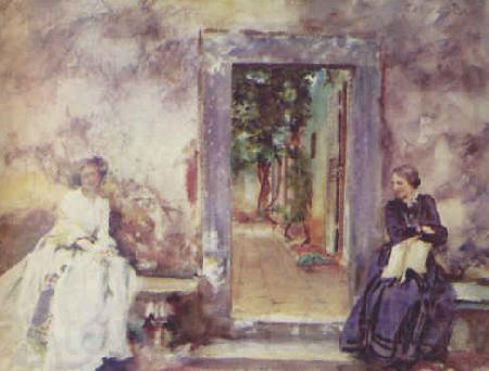 John Singer Sargent The Garden Wall