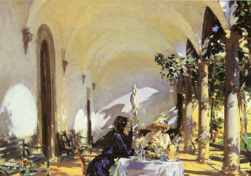 John Singer Sargent Breakfast in  the Loggia