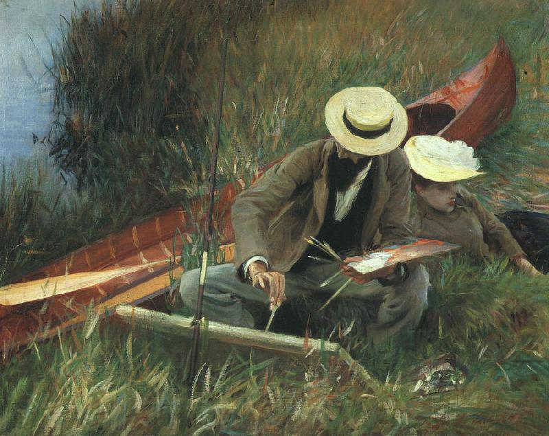 John Singer Sargent Paul Helleu Sketching With his Wife