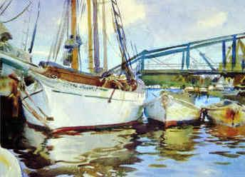 John Singer Sargent Boats at Anchor