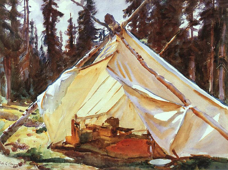 John Singer Sargent A Tent in the Rockies