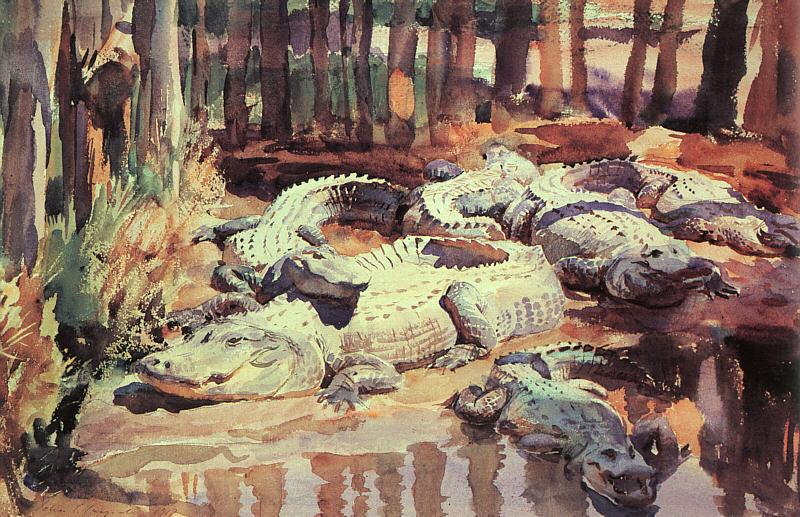 John Singer Sargent Muddy Alligators