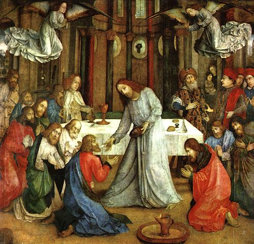 Joos van Ghent The Institution of the Eucharist