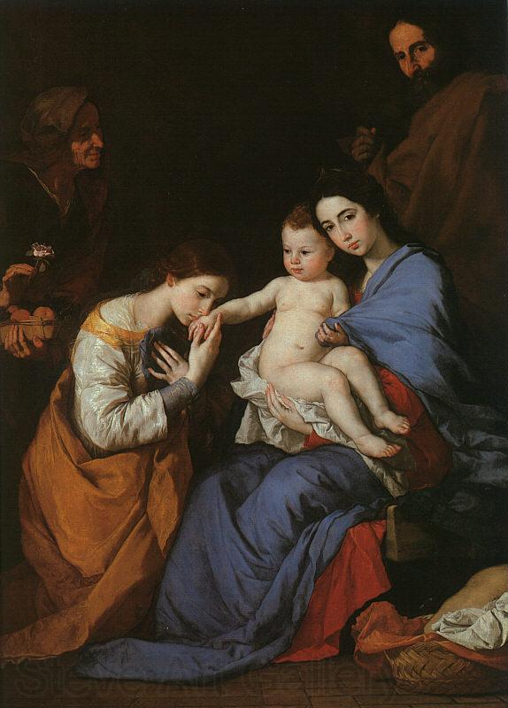 Jusepe de Ribera The Holy Family with Saints Anne Catherine of Alexandria