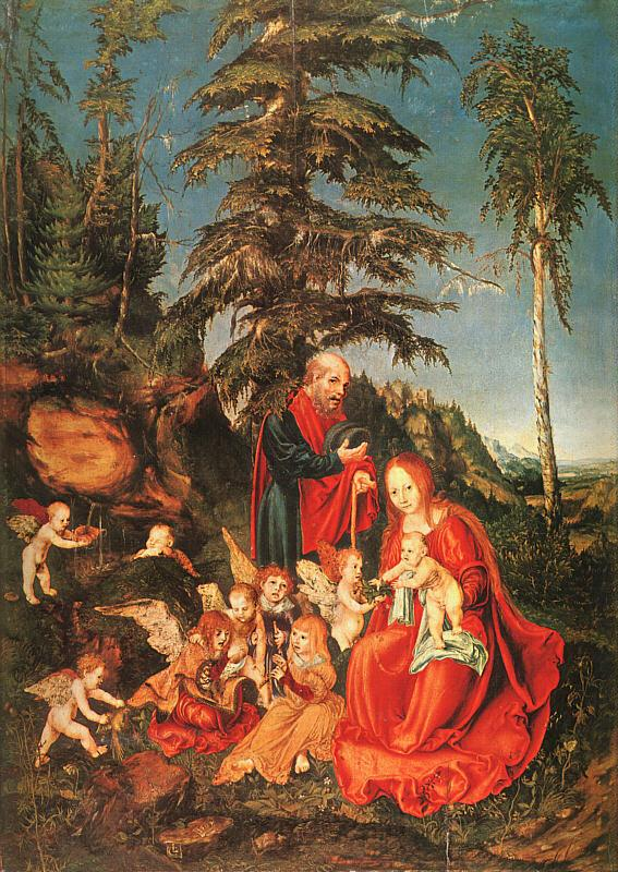 Lucas  Cranach The Rest on the Flight to Egypt