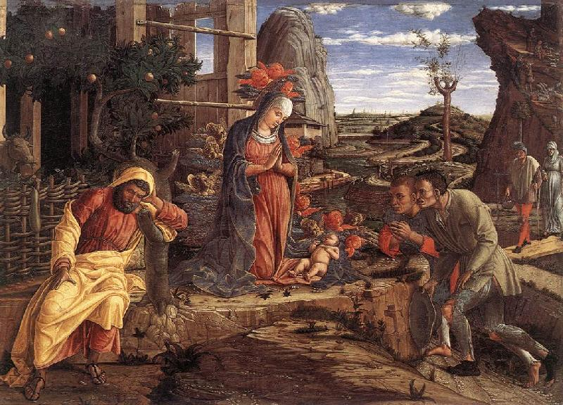 MANTEGNA, Andrea The Adoration of the Shepherds sf