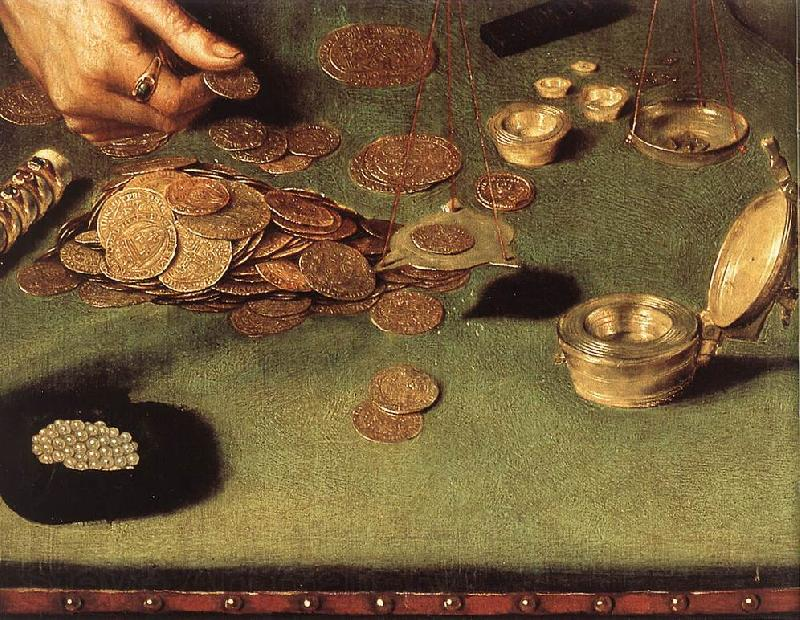 MASSYS, Quentin The Moneylender and his Wife (detail) sg