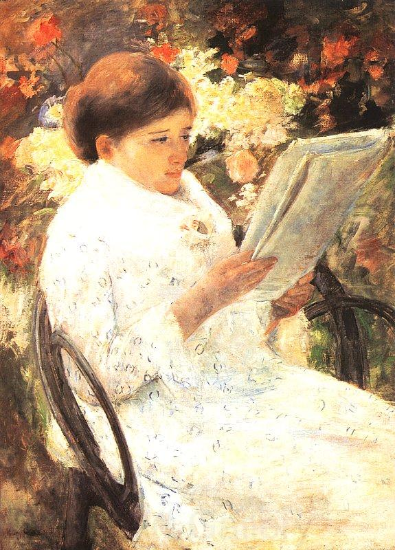 Mary Cassatt Woman Reading in a Garden