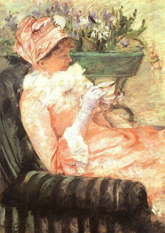 Mary Cassatt The Cup of Tea 1