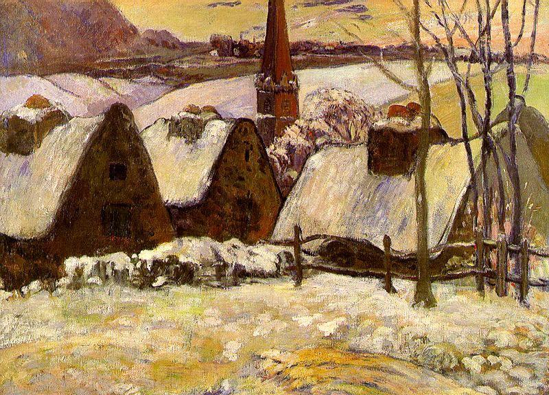 Paul Gauguin Breton Village in the Snow