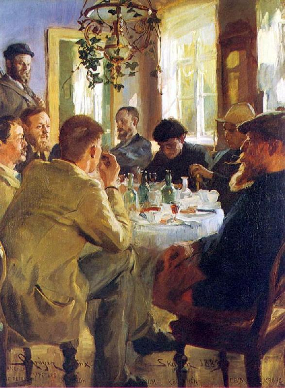 Peter Severin Kroyer The Artists Luncheon