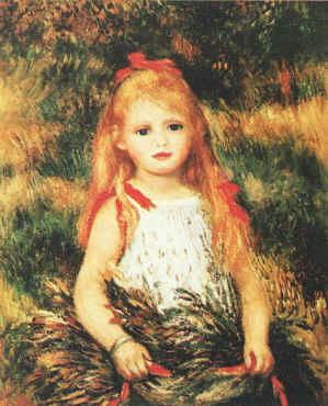 Pierre Renoir Girl with Sheaf of Corn