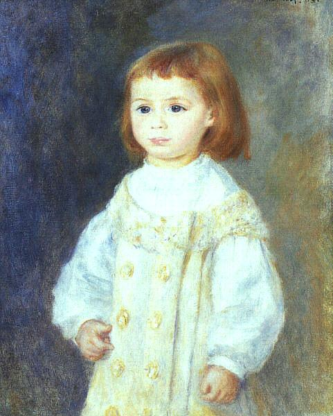 Pierre Renoir Child in White