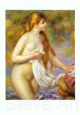 Pierre Renoir Bather with Long Hair