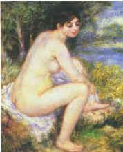 Pierre Renoir  Female Nude in a Landscape