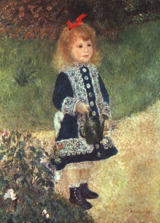 Pierre Renoir Girl and Watering Can