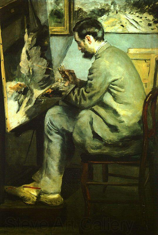 Pierre Renoir Bazille at his Easel