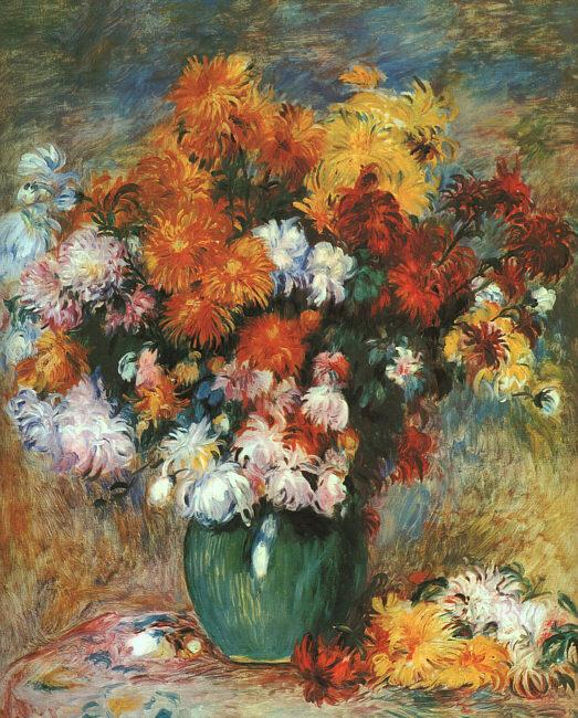 Pierre Renoir Bouquet de Chrysanthemes