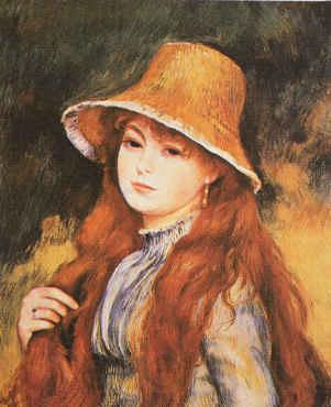 Pierre Renoir Girl and Golden Hat