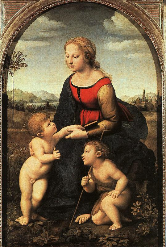 Raphael The Virgin and Child with John the Baptist