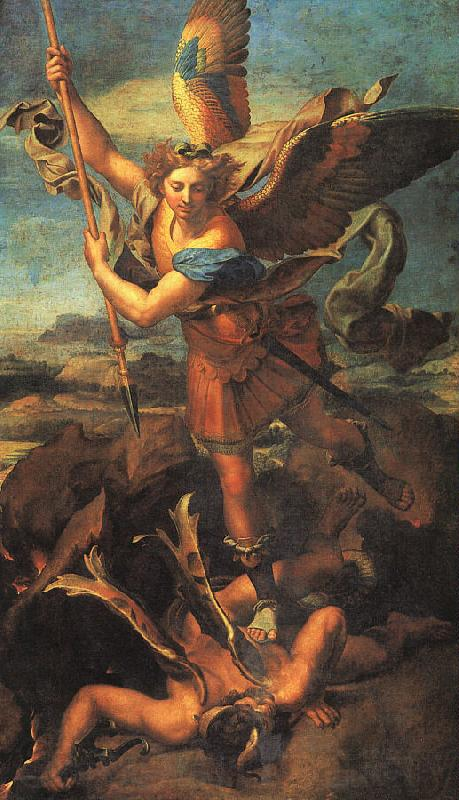 Raphael Saint Michael Trampling the Dragon