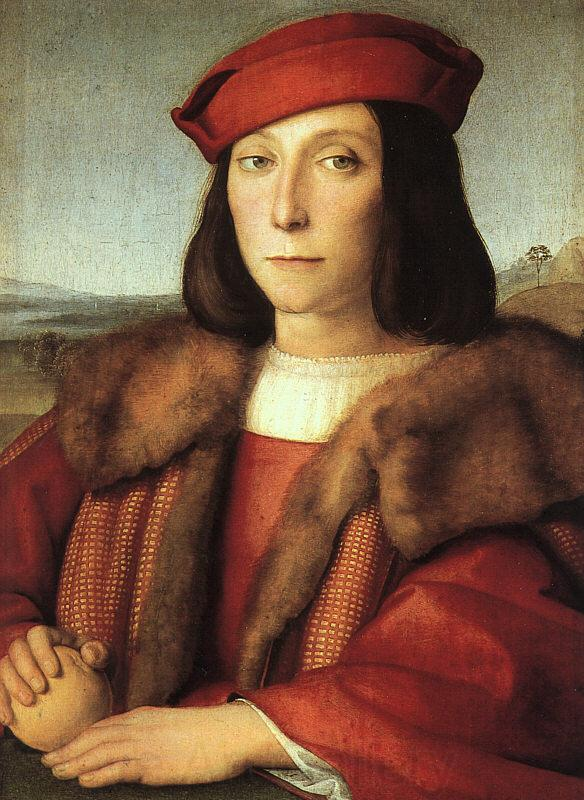 Raphael Portrait of a Man with an Apple